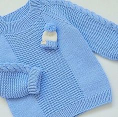 This Pin was discovered by İcl   Baby Sweater Patterns, Knitting Patterns Boys, Knit Baby Sweaters, Knitted Baby Clothes, Knitting Designs, Baby Patterns, Baby Boy Knitting, Knitting For Kids, Free Knitting