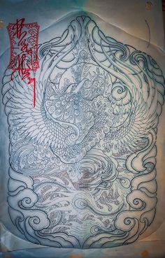 Phoenix Tattoo Design, Tattoo Phoenix, Lunges, Tattoo Designs, Oriental, Tapestry, Dragon, Tattoos, Drawings