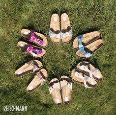 Neu! #Birkenstock jetzt bei #Reischmann. Stylish & #komfortabel durch den #Sommer mit den aktuellen Birkenstock #Modellen. #shoes #flats #schuhe #trend