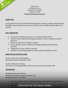 Cna Resume Objective Statement Examples Pleasing Resume Examples Cna  Pinterest  Resume Examples And Resume Objective