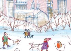 Snippets of Christmas card designs for Honey Tree Publishing #CreateABuzz