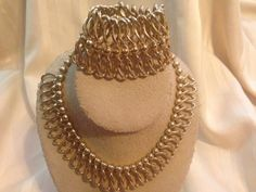 FABULOUS Vintage Bold Necklace and Bracelet Set by GENEVEVES