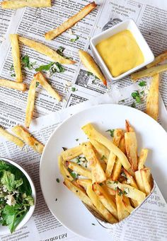 Homemade French fries are a super easy dinner! Try them with a coconut-curry…