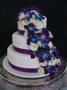 WOW! Cascading Singapore Orchids Cake by Sweet & Simple