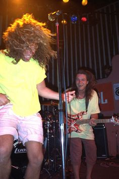 Eddie Van Halen & Sammy Hagar at the opening of Cabo Wabo Cantina in Los Cabos Mexico Van Halen 2, Eddy Van Halen, Sammy Hagar Cabo Wabo, Van Hagar, Grand Funk Railroad, Red Rocker, Lita Ford, David Lee Roth, Music Pics