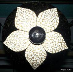Mosaico com casca de ovos