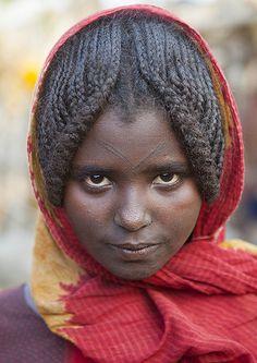 Afar Tribe Girl, Assayta, Ethiopia | © Eric Lafforgue