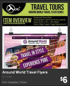 Around the World Travel Flyers