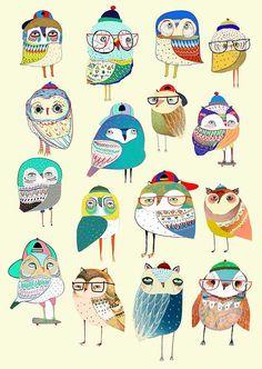 Childrens Wall Art, Art Wall Kids, Nursery Wall Art, Wall Art Decor, Art For Kids, Nursery Decor, Art And Illustration, Poster Online, Owl Print
