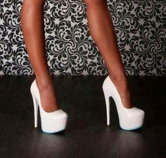 I need white heels