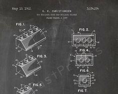 INSTANT DOWNLOAD 5 JPG | Lego Wall Art | Lego Art | Lego Print | Lego Printables | Lego Poster | Patent Print | Patent Art | Kids Gift