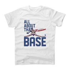 Freddie Freeman Base B Atlanta Officially Licensed MLBPA Toddler and Youth T-Shirts 2-14 Years