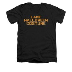 Lame Halloween Costume Adult V-Neck T-Shirt