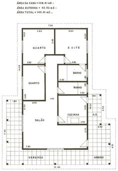 Indian House Plans, House Plans One Story, Small House Plans, Framing Construction, House Construction Plan, 3 Bedroom Home Floor Plans, House Floor Plans, Minimal House Design, Small House Design