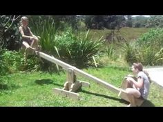 Seesaw with sliding seats - YouTube
