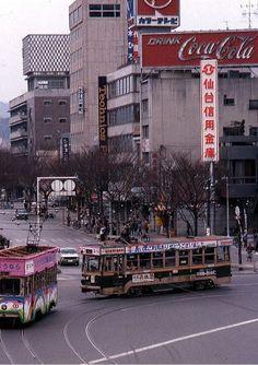 Sendai, Light Rail, Times Square, Street View, Japan, Trains, Nostalgia, Healing, Retro