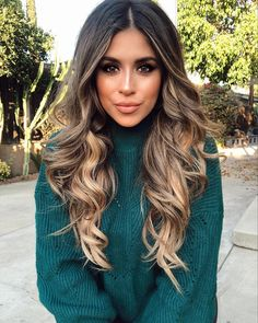 Long Wavy Ash-Brown Balayage - 20 Light Brown Hair Color Ideas for Your New Look - The Trending Hairstyle Brown Ombre Hair, Brown Hair Balayage, Ombre Hair Color, Light Brown Hair, Blonde Ombre, Hair Color Balayage, Brown Hair Colors, Dark Hair, Bayalage Brunette