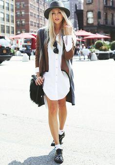 Tendencia: Vestido camisero blanco Un look muy cómodo y fresco para la temporada de calor