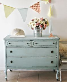 images of decorating with robins egg blue shabby chic | Antique Robin's Egg Blue Dresser