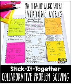 Collaborative Problem-Solving in Math - math group work where everyone works. Math word problems for every math skill from to grade. Problem Solving Activities, Math Activities, Math Games, Math Lesson Plans, Math Lessons, Math Classroom, Math Math, Math Fractions, Google Classroom