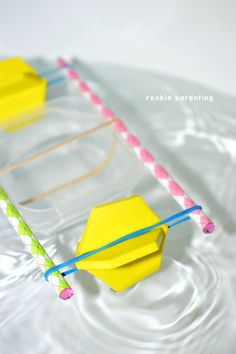 Build a rubber-band powered paddle boat in this awesome science experiment. Learn about energy conversion.