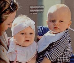 Princess Charlene of Monaco and Princess Gabriella & Prince Jacques in Die Aktuelle magazine