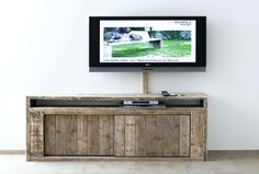 Sideboard made ​​from scaffold boards. Raw timber coffee table buffet