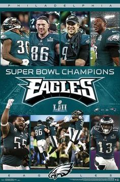 Super Bowl LII Celebration Philadelphia Eagles Fridge Magnet size x Philadelphia Eagles Super Bowl, Philadelphia Sports, Go Eagles, Fly Eagles Fly, Golden State Warriors 2018, Official Nfl Football, Superbowl Champions, Celebrities, Football Memes