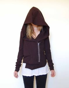 asymmetrical hoodie from blackmarketbaby on etsy