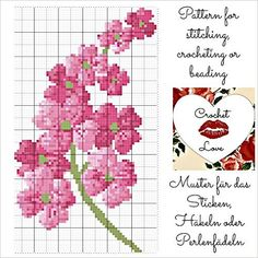 Flower: Pattern for stitching, crocheting or beading