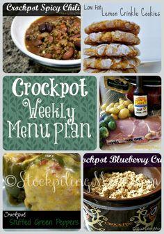 ©StockpilingMoms.com Crockpot Weekly Menu