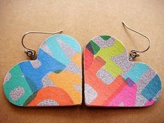 heart earrings :)