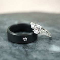 Today we're going to browse some of our favorite black engagement rings from our longtime friends and sponsors Joseph Jewelry. We're talking all black material black gemstones or just more subtle black accents. Tanzanite Engagement Ring, Leaf Engagement Ring, Wedding Men, Wedding Bands, Wedding Ideas, Men Wedding Rings, Dream Wedding, Wedding Blue, Wedding Flowers