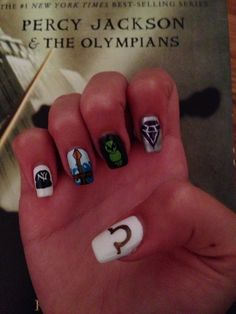 My new Percy Jackson nails!!! The right hand
