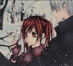 Yuki and Zero // Vampire Knight Yuki And Kaname, Yuki And Zero, Vampire Knight Zero, Matsuri Hino, Zero Kiryu, Vampire Hunter, Beautiful Love, Anime Shows, Anime Love
