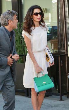 Amal Clooney carries a Dolce & Gabbana bag