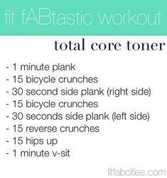 Several great ab routines