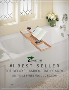 There's a reason why our Expandable Deluxe Bamboo Bath Caddy is our number 1 bestseller this holiday season -  it's awesome!