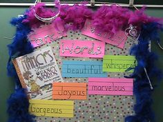 "Our class has been looking at words to make our writing more exciting.  What better way to show this by reading Fancy Nancy.  Here is our new ""Fancy Nancy"" Word Wall"