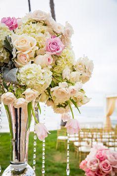Gorgeous and glam flower arrangement {Joie De Vivre Photography}