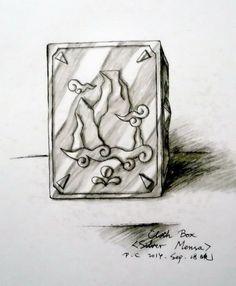 My paintings——<Saint Seiya>Hand painted.My own design Saint---Mensa Silver Saint Calvin. 2014.9.18晚完成了加尔文的圣衣箱([自己人设].水性笔+水彩笔)。英国爱丁堡人,是个痴心武艺的山案座白银圣斗士,飞鱼座女青铜康丝坦斯的师父。长居海地的瓦什岛潜心修行。绝招:公平裁判;圣灵救赎。 (Mensa Cloth Box)