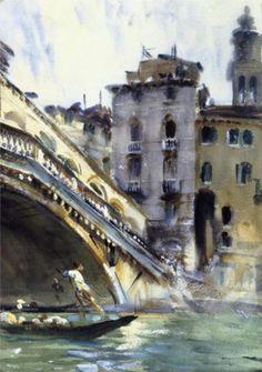 "John Singer Sargeant, ""The Rialto Bridge,"" 1907-11"