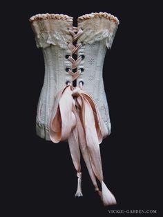 Antique doll corset 1890s