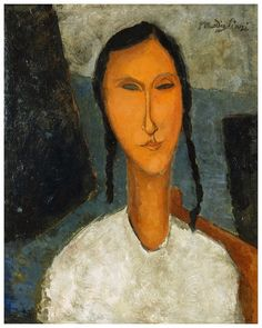 Amedeo Modigliani, Young Girl with Braids, 1918