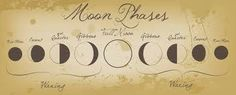 moon phase tattoo Phase Tattoo, Moon Tattoos, Magick Things, Phase Charts, Moon Magic, Month, Moon Phase Illustration, Ink, The Moon
