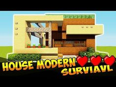 Minecraft: How To Make A WOODEN HOUSE In A MODERN STYLE! Modern Minecraft Houses, Wooden House, Projects, How To Make, Survival, Crafts, Craft Ideas, Tips, Style