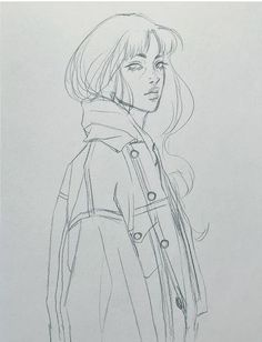 New anime art drawings illustrations design reference 52 Ideas Pencil Art Drawings, Art Drawings Sketches, Easy Drawings, Drawings Of Girls, Portrait Sketches, Sketch Art, Art And Illustration, Figure Painting, Painting & Drawing