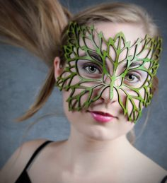 Hey, I found this really awesome Etsy listing at http://www.etsy.com/listing/56527063/lacy-leaf-leather-mask-in-green