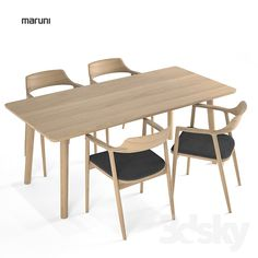 Maruni Arm chair Low Hiroshima + table