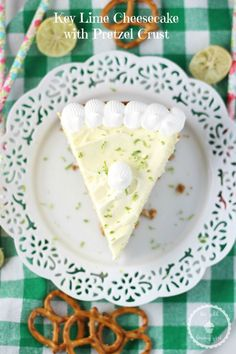 The Gold Lining Girl | Key Lime Cheesecake with Pretzel Crust | http://thegoldlininggirl.com